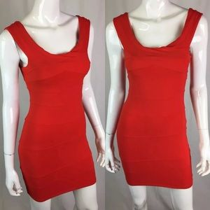 Bebe Stretchy Bodycon Sheath Bandage Dress